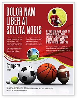 Sports Program Template Microsoft Word Sport Balls Flyer Template Background In Microsoft Word