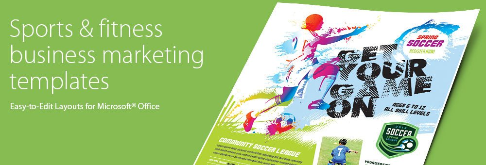 Sports Program Template Microsoft Word Sports & Fitness Brochures & Flyers Word & Publisher