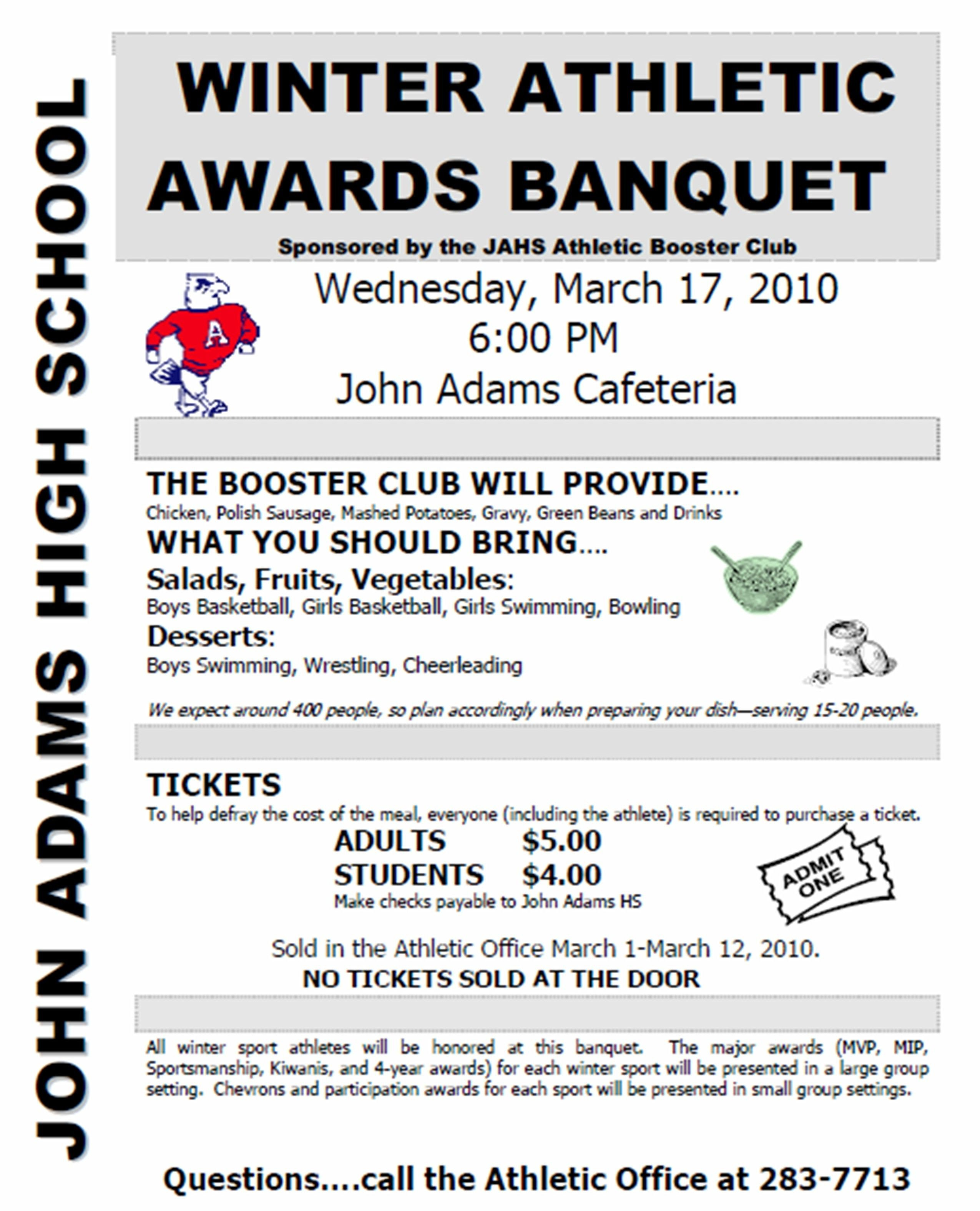 Sports Program Template Microsoft Word Sports Awards Banquet Program Template