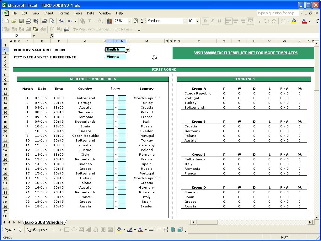 Sports Schedule Maker Excel Template Sports Schedule Maker Excel Template – Printable Schedule