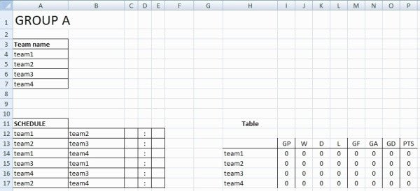 Sports Schedule Maker Excel Template Sports Schedule Maker Excel Template the Hidden Agenda