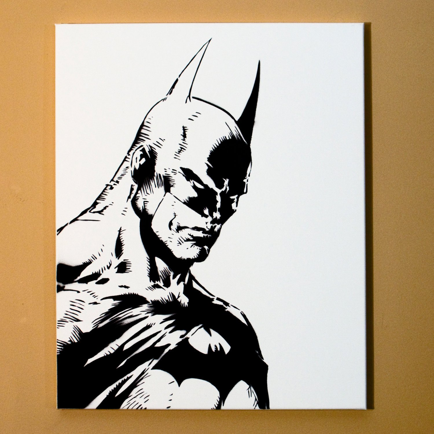 Spray Paint Art Stencils Batman Art Spray Paint From Handmade Stencil Black and