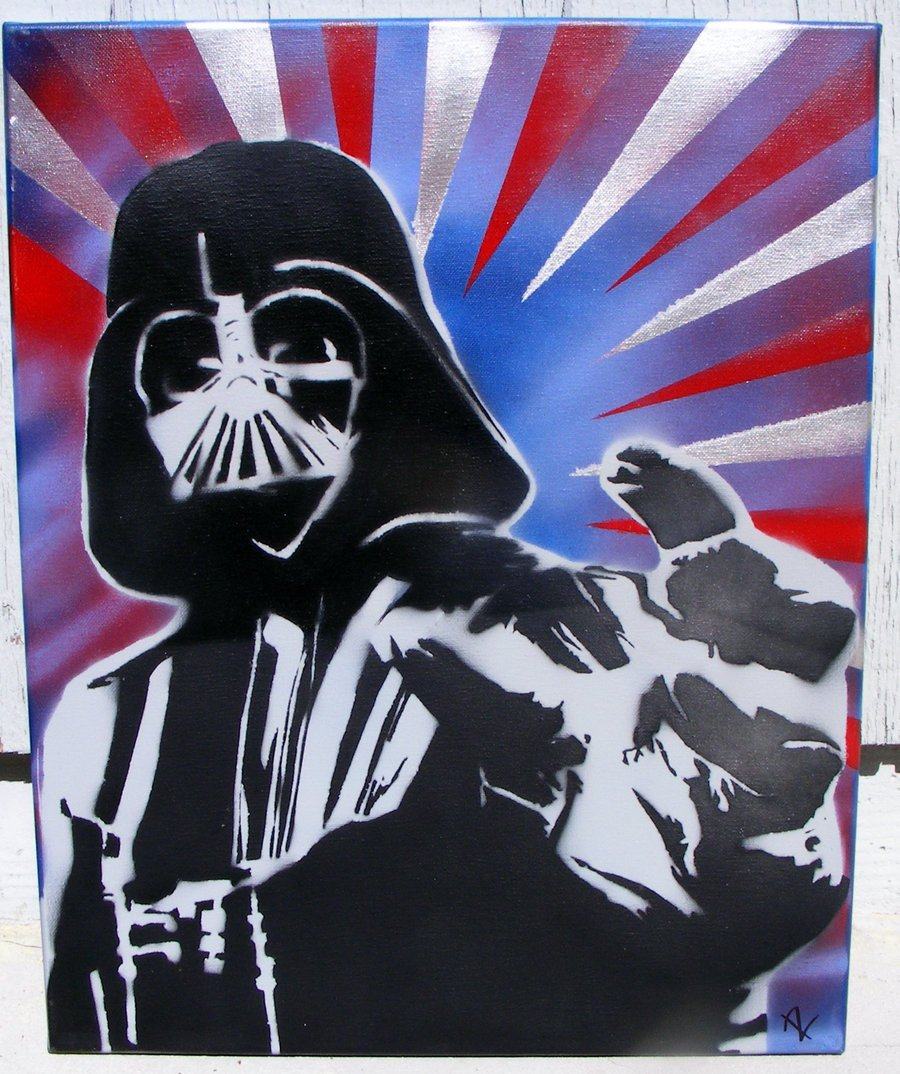 Spray Paint Art Stencils Darth Vader Stencil Spray Paint Art by Tahoesun On Deviantart