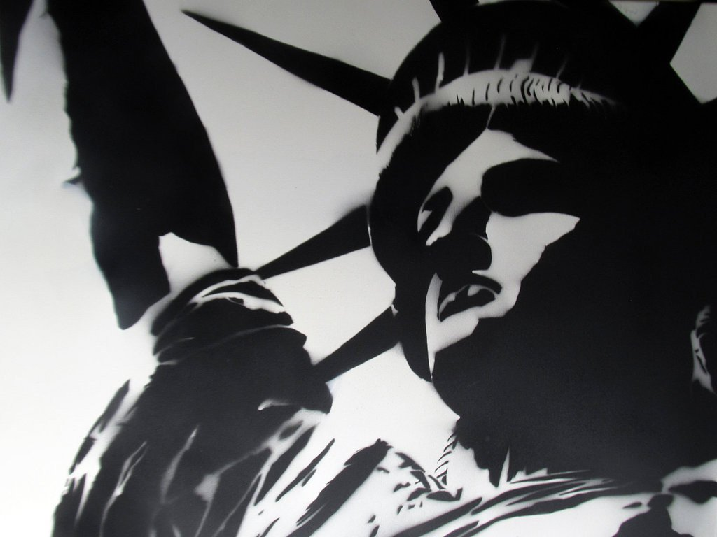 Spray Paint Art Stencils Statue Of Liberty Spray Paint Stencil Modern Art by