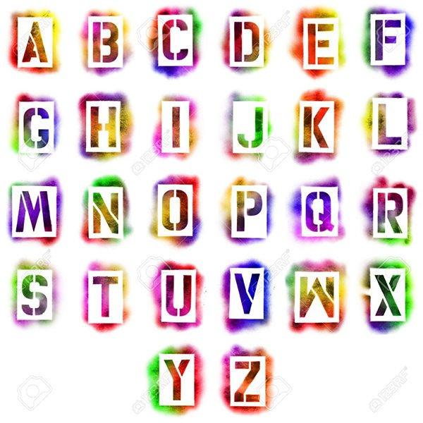 Spray Paint Letter Stencils 43 Best Alphabet Stencils