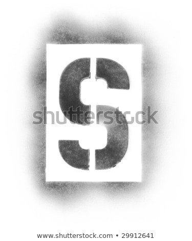 Spray Paint Letter Stencils Spray Paint Letters Stock Royalty Free
