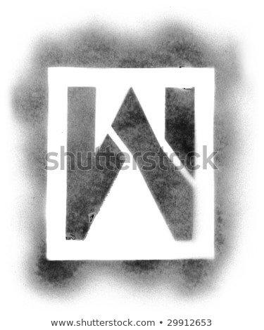 Spray Paint Letter Stencils Stencil Font Stock S &