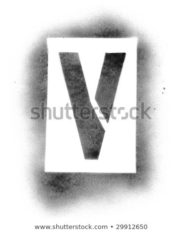 Spray Paint Letter Stencils Stencil Letters In Spray Paint Stock Photo