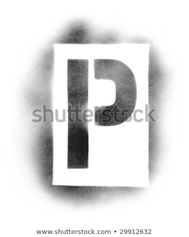 Spray Paint Letter Stencils Stencil Letters Stock Royalty Free