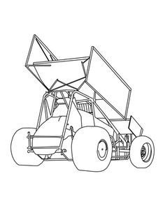 Sprint Car Drawing Sprint Car Art On Pinterest
