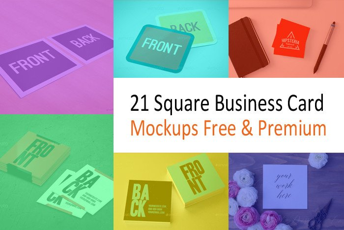 Square Business Card Mockup 21 Square Business Card Mockups Free & Premium Designyep