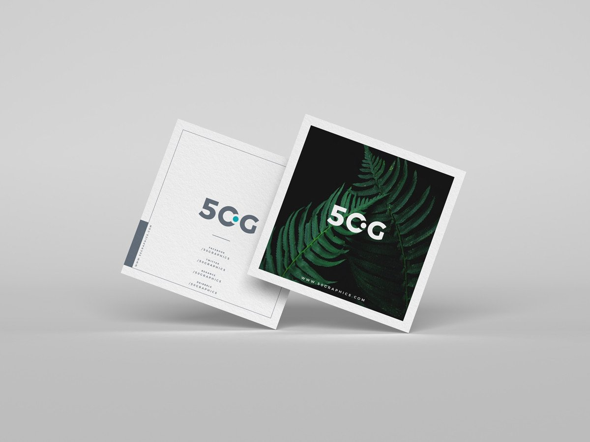 Square Business Card Mockup Free Brand Square Business Cards Mockup Psd 50 Graphics