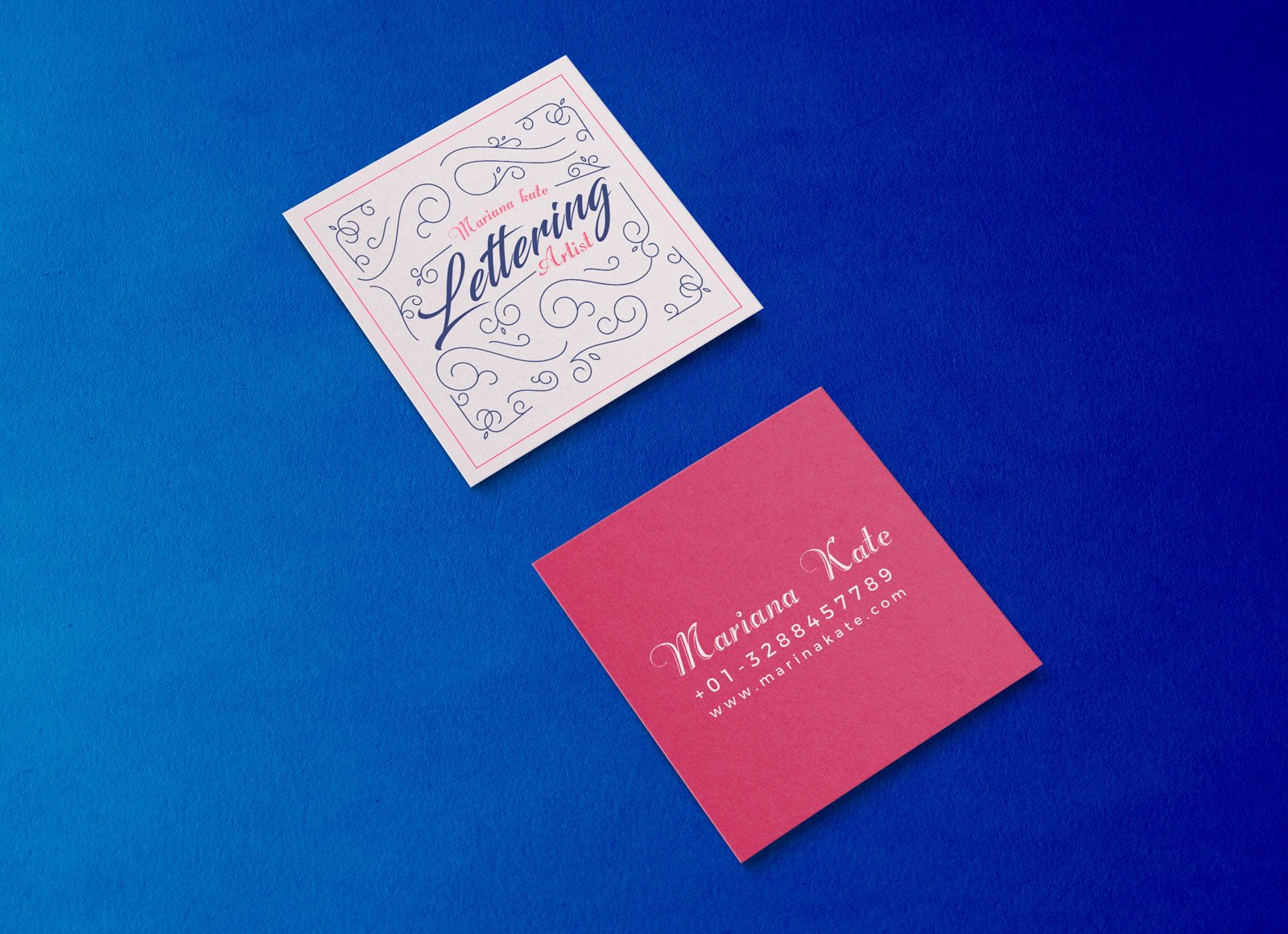 Square Business Card Mockup Free Front & Back Square Business Card Mockup Psd Good