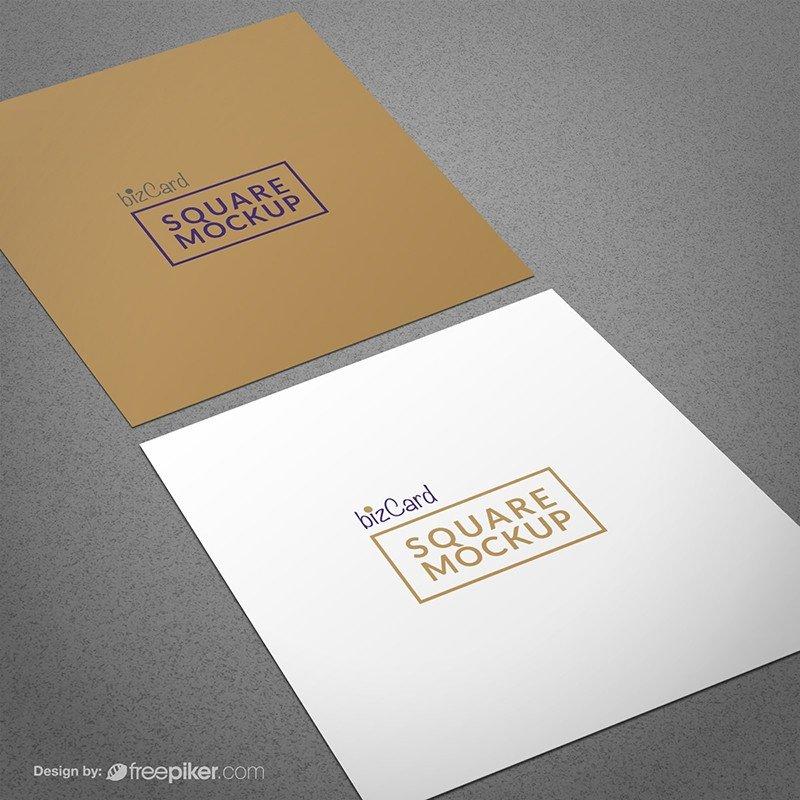 Square Business Card Mockup Freepiker