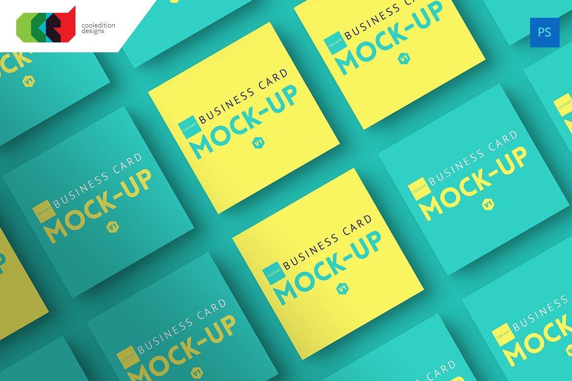 Square Business Card Mockup Square Business Card Mock Up V1 Print Mockups