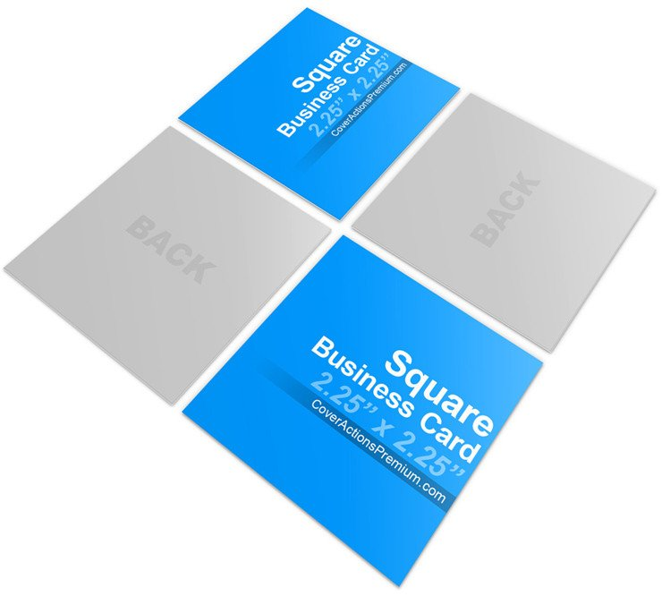 Square Business Card Mockup Square Business Card Mock Ups