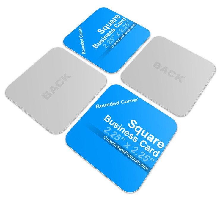 Square Business Card Mockup Square Business Card Mockup