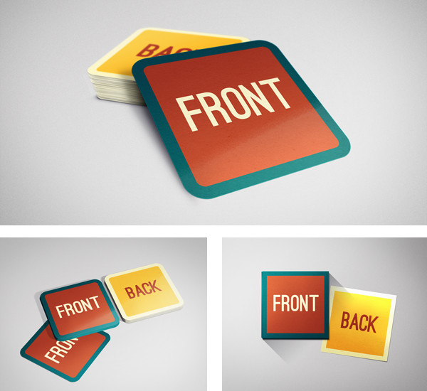 Square Business Card Mockup Square Business Card Mockup On Behance