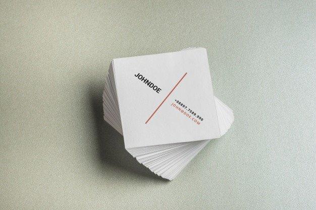 Square Business Card Mockup Square Business Card Mockup Psd File