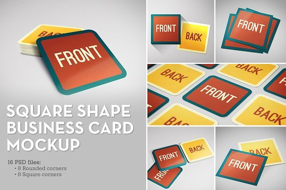 Square Business Card Mockup Square Shape Business Card Mockup Product Mockups