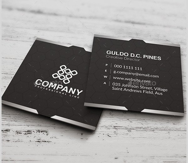 Square Business Card Template 26 Creative Square Business Card Templates Ms Word Ai