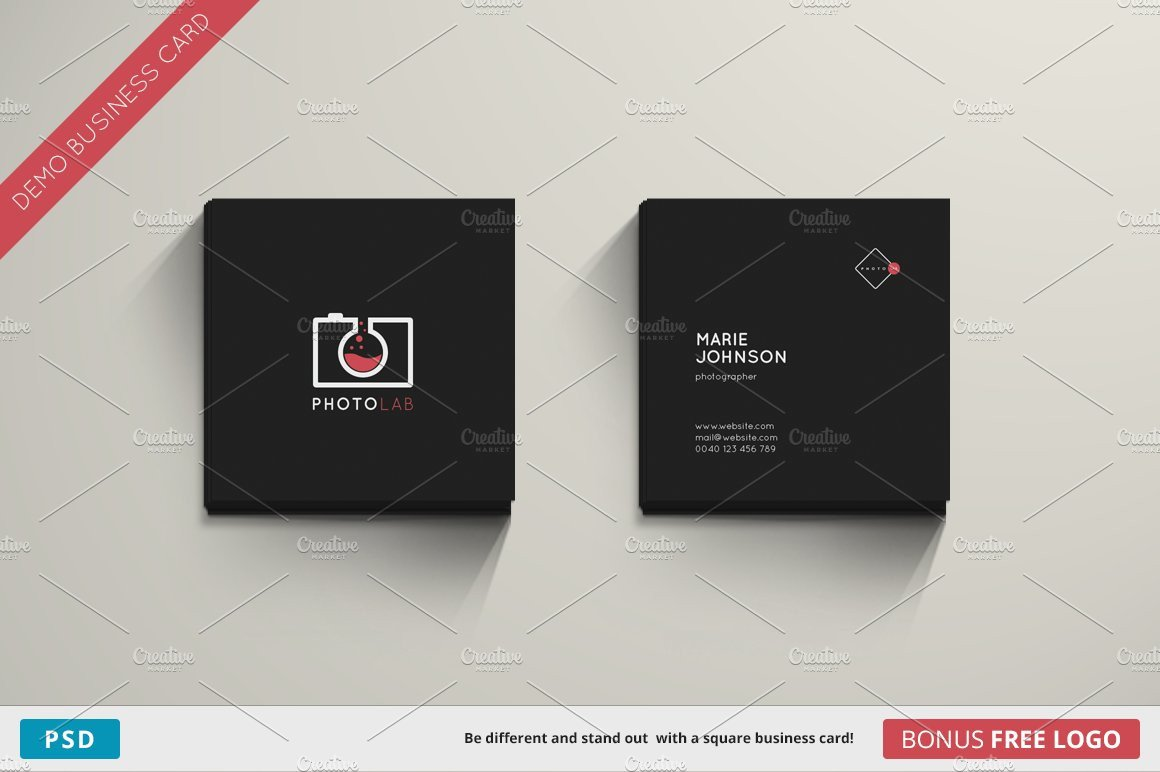 Square Business Card Template Lab Business Card Square Business Card Templates