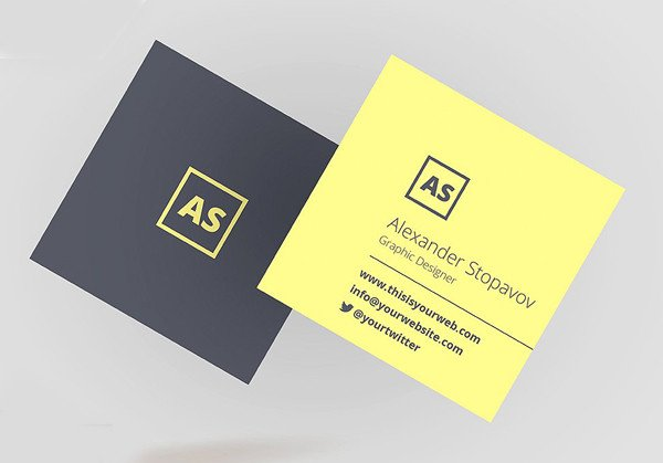 Square Business Card Template Mini Square Business Card Psd Templates Design