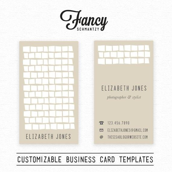 Square Business Card Template Retro Square Business Card Template