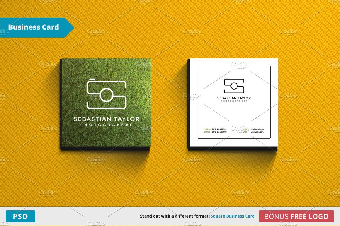 Square Business Card Template S Square Business Card Template Business Card