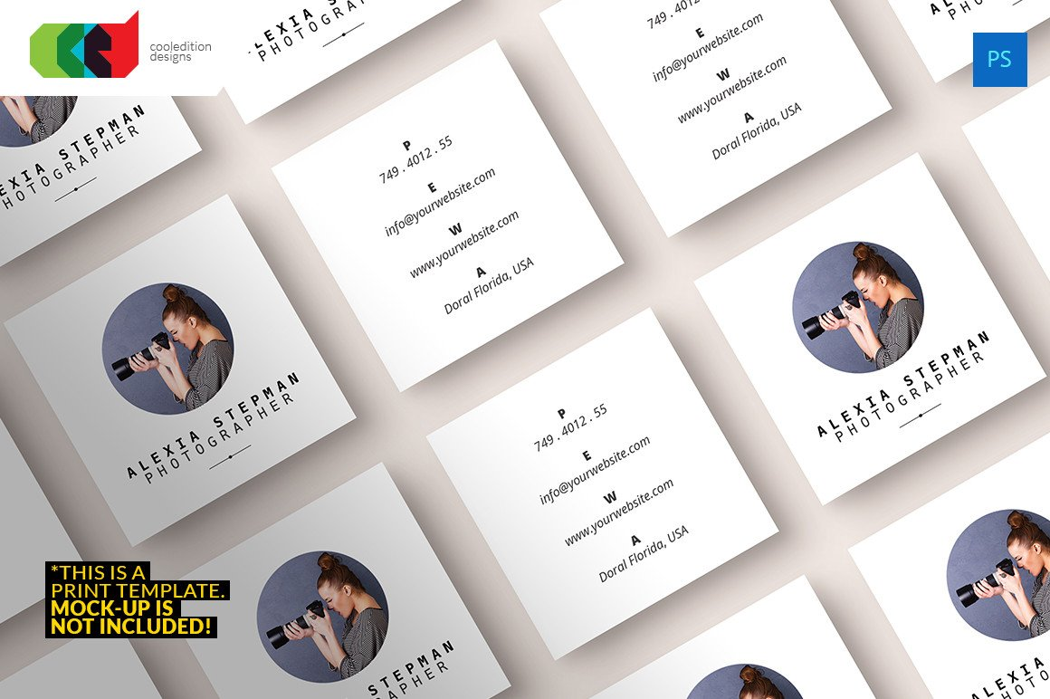 Square Business Card Template Square Business Card 43 Business Card Templates On