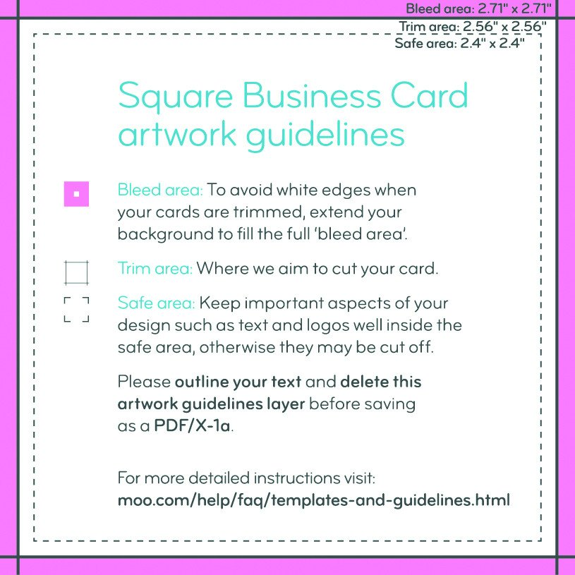 Square Business Card Template Square Business Cards Print Custom Business Cards