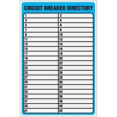 Square D Panel Schedule Template Printable Circuit Breaker Panel Labels