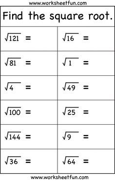 Square Root Curve Chart Square Root Worksheets Find the Square Root Of whole