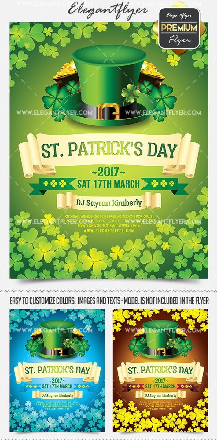 St Patrick Day Flyer 15 Free and Premium St Patrick S Day Party Flyer