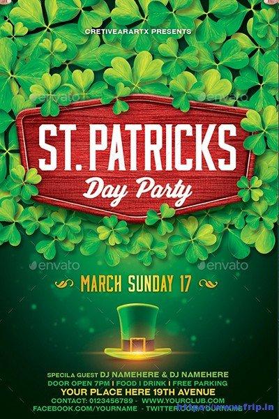 St Patrick Day Flyer 70 Best St Patrick S Day Flyer Print Templates 2019