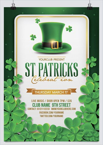 St Patrick Day Flyer Best Flyer Templates for St Patrick S Day Hollymolly