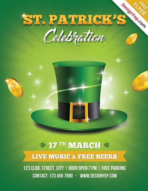 St Patrick Day Flyer Download Free St Patricks Flyer Psd Templates for Shop