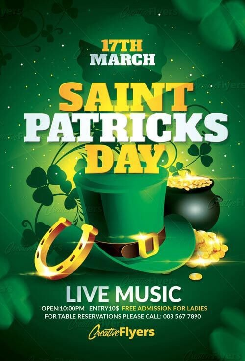 St Patrick Day Flyer Download