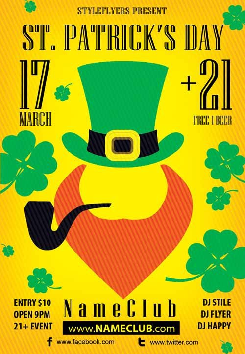 St Patrick Day Flyer Download the St Patrick's Day Free Flyer Template for