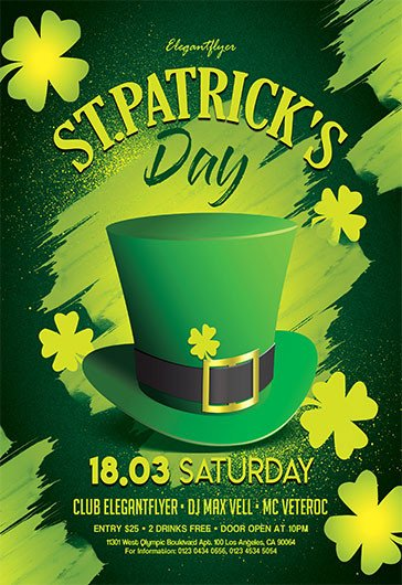 St Patrick Day Flyer Free Flyer Psd Templates for Party event Business