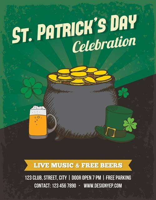 St Patrick Day Flyer Free Saint Patricks Day Psd Flyer Template Irish Pub