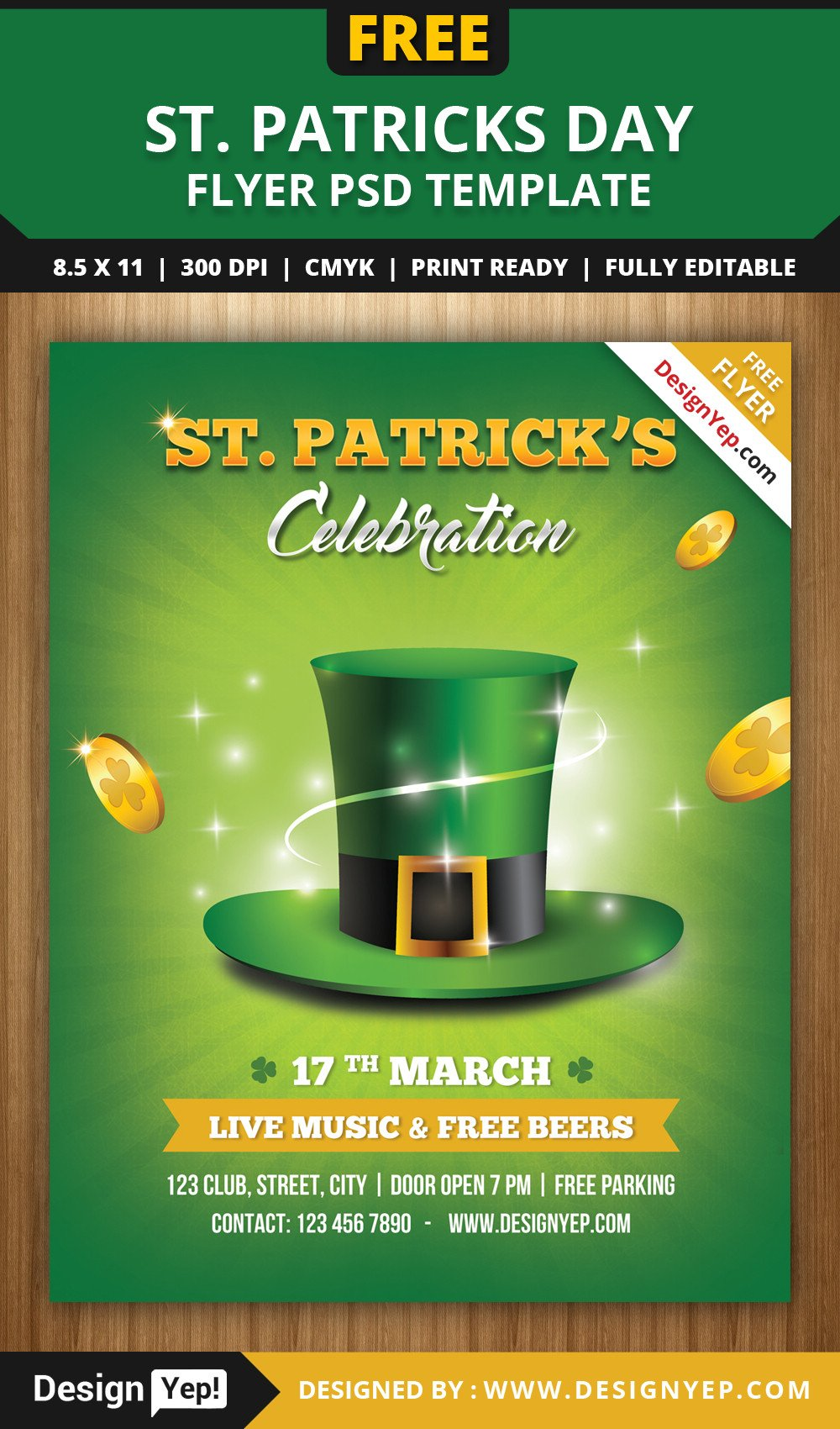 St Patrick Day Flyer Free St Patricks Day Flyer Template Psd Designyep