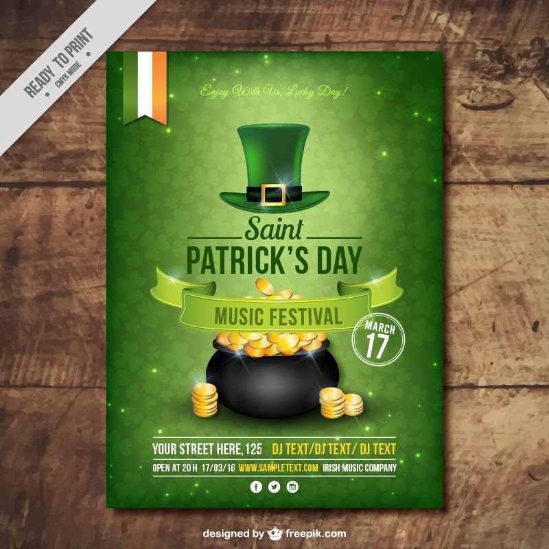 St Patrick Day Flyer Freebie 5 Free Flyer & Poster Templates for St Patrick S Day