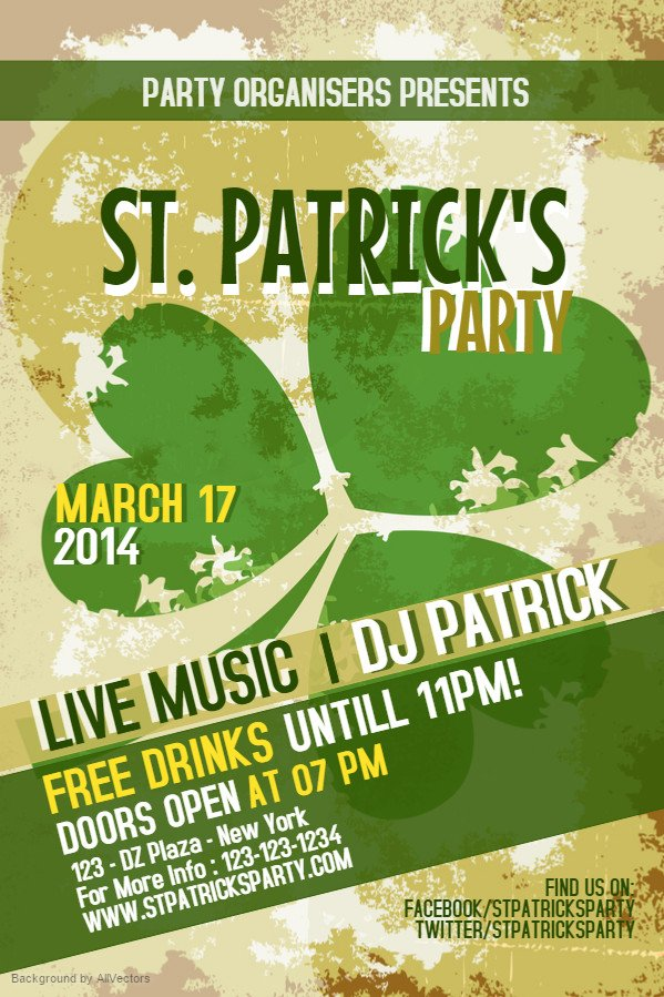 St Patrick Day Flyer Prepare for St Patrick S Day with Bar Flyers