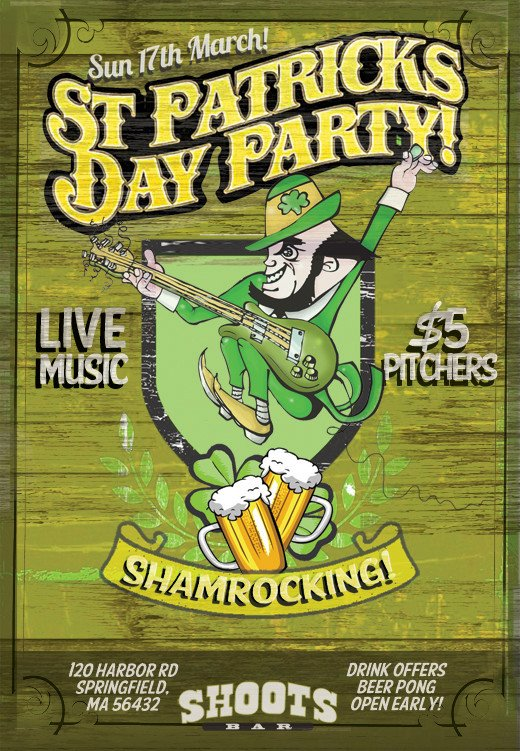 St Patrick Day Flyer St Patrick S Day Designs 3 Free Shop Flyer