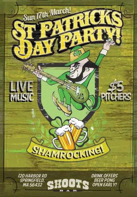 St Patrick Day Flyer St Patrick S Day Designs 3 Free Shop Flyer