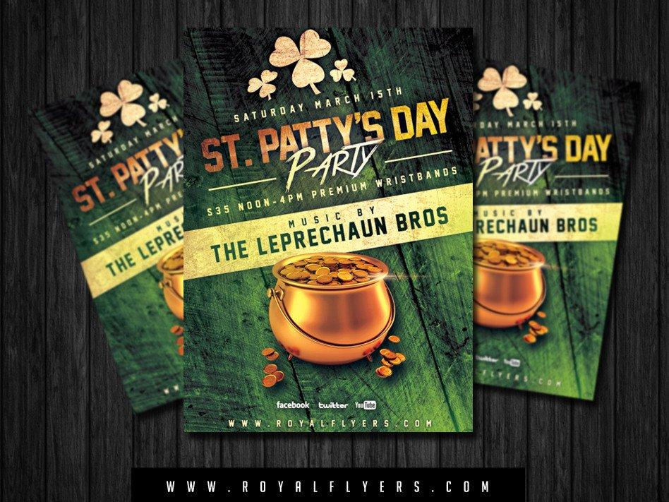 St Patrick Day Flyer St Patrick S Day Flyer Psd Template