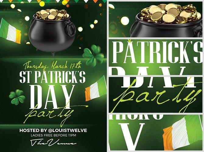St Patrick Day Flyer St Patrick S Day Flyer Template 4 Flyerheroes