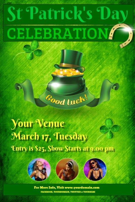 St Patrick Day Flyer St Patrick S Day Flyer Template