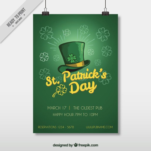St Patrick Day Flyer St Patrick S Day Flyer Template Vector
